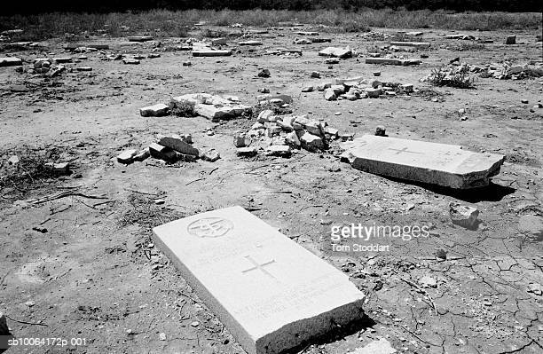 , Iraqi crowds angrily desecrated graves at The British Military Cemetery in Basrah only days after the city was liberated by British troops.