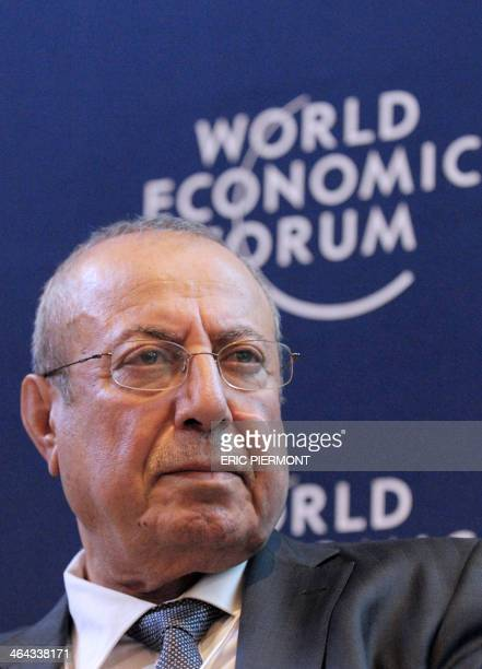 Iraqi deputy prime minister Rowsch N Shaways attends the session 'The Arab World Context' at the World Economic Forum in Davos on January 22 2014...