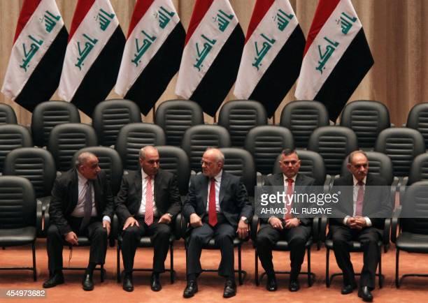 Iraqi deputy Prime Minister Saleh alMutlak Deputy Prime Minister Baha alAraji Foreign Minister Ibrahim alJaafari Planning Minister Salman alJumaili...
