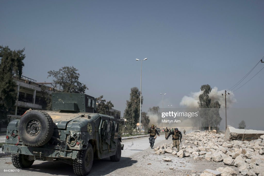 Iraqi Forces Emergency Response Unit Begins Offensive To Drive Islamic State From Western Mosul, Iraq : News Photo