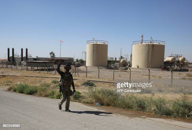 Iraqi federal forces enter the Bai Hassan oil field west of the multiethnic northern city of Kirkuk on October 17 2017 Iraqi forces took control of...