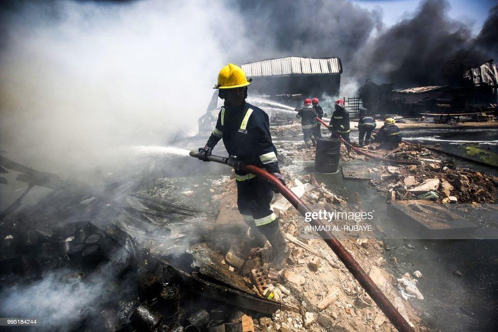 IRAQ-ACCIDENT-FIRE : News Photo