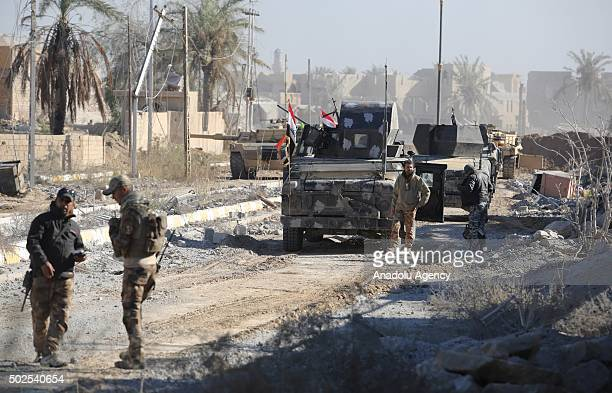 Iraqi forces are seen as the operation aiming to reseize the Ramadi from Daesh terrorist continue in elHoz neighborhood of Ramadi Iraq on December 26...