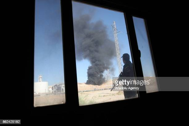 Iraqi forces take control of the Bai Hassan oil facility after Peshmerga forces withdrawn the area in Kirkuk Iraq on October 17 2017