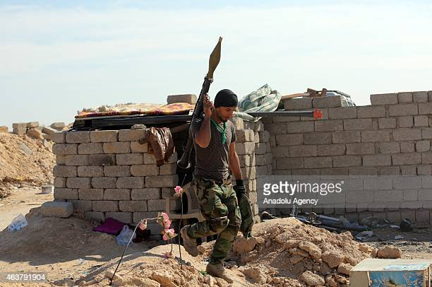 Iraqi government forces and Al Hasdush Shabi militias are seen as they prepare to launch an operation against Islamic State of Iraq and the Levant...