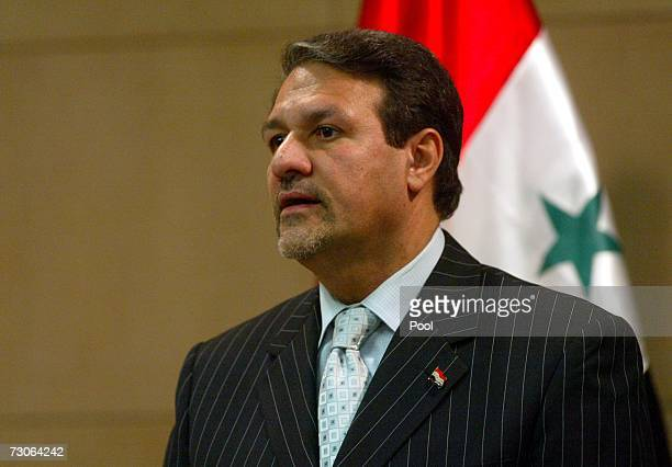 Iraqi Government Spokesman Ali alDabbagh speaks during a press conference January 22 2007 in Baghdad Iraq AlDabbagh said today that the Iraqi...