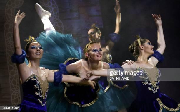 Iraqi Kurdish and foreign ballet dancers perform Aladdin's Wonderful Lamp on May 20 in Arbil the capital of the autonomous Kurdish region of northern...
