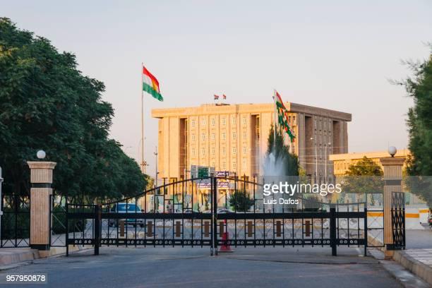 iraqi kurdistan parliament building - iraq parliament stock pictures, royalty-free photos & images