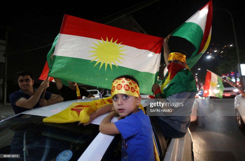 IRAQ-KURDS-REFERENDUM : News Photo