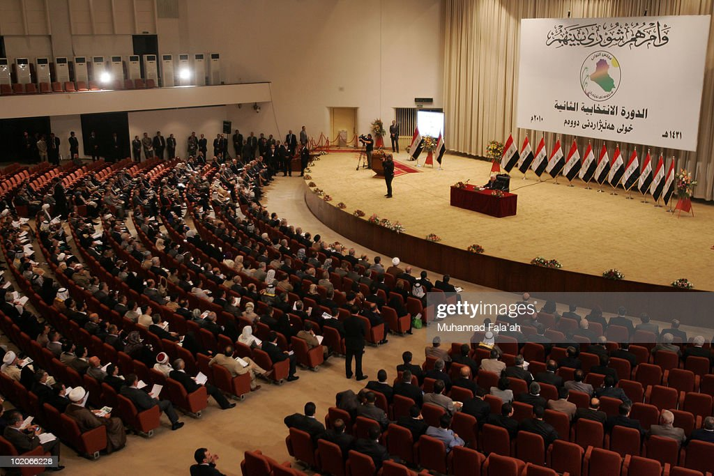 Iraq Parliament Convenes Following Inconclusive Election : News Photo