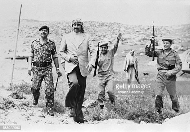 Iraqi leader Saddam Hussein visits soldiers in northern Iraq