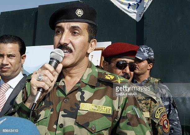 Iraqi Major General Qassim Atta spokesman for the Baghdad operations dubbed �Fardh al Qanoon� or �Enforcement of the Law� speaks during the reopening...