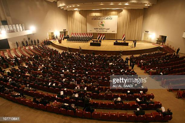 Iraqi MPs are seated in parliament in Baghdad on December 21 2010 as lawmakers gave Prime Minister Nuri alMaliki's government a vote of confidence...