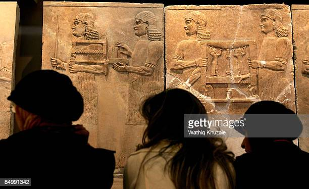 Iraqi National Museum employees are seen at Iraq National Museum on February 23 2009 in Baghdad Iraq The Iraqi Prime Minister reopened the museum...