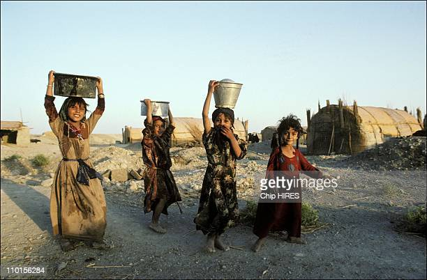 Iraqi of the marshes displaced in Iraq in Octorber 1993
