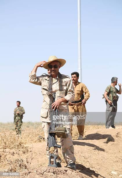 Iraqi Peshmergas forces take control of the town of Rabia which was previously seized by Islamic State of Iraq and the Levant in Mosul Iraq on August...