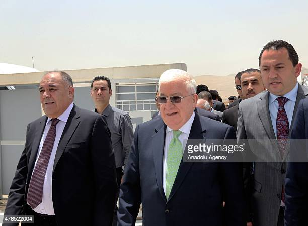 Iraqi President Fuad Masum is seen at Sulaymaniyah International airport in Kurdish Regional Government's Sulaymaniyah province on June 10 2015