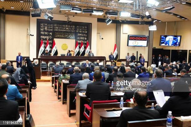 Iraqi Prime Minister Adel Abdul-Mahdi attends an Iraqi parliament session in Baghdad, Iraq, 05 January 2020. Iraqi parliamentarians attended a...