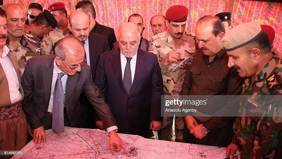 Iraqi PM Haider al-Abadi in Kirkuk : News Photo