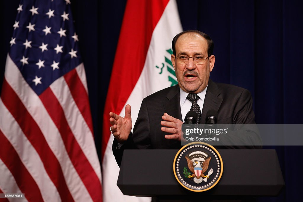 President Obama Holds News Conference With Iraqi Prime Minister Nouri Al-Maliki At The White House : Nieuwsfoto's