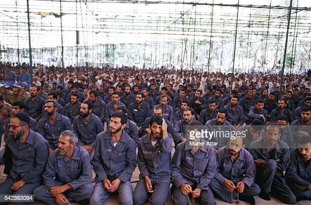 Iraqi Prisoners During Friday Prayer in Tehran