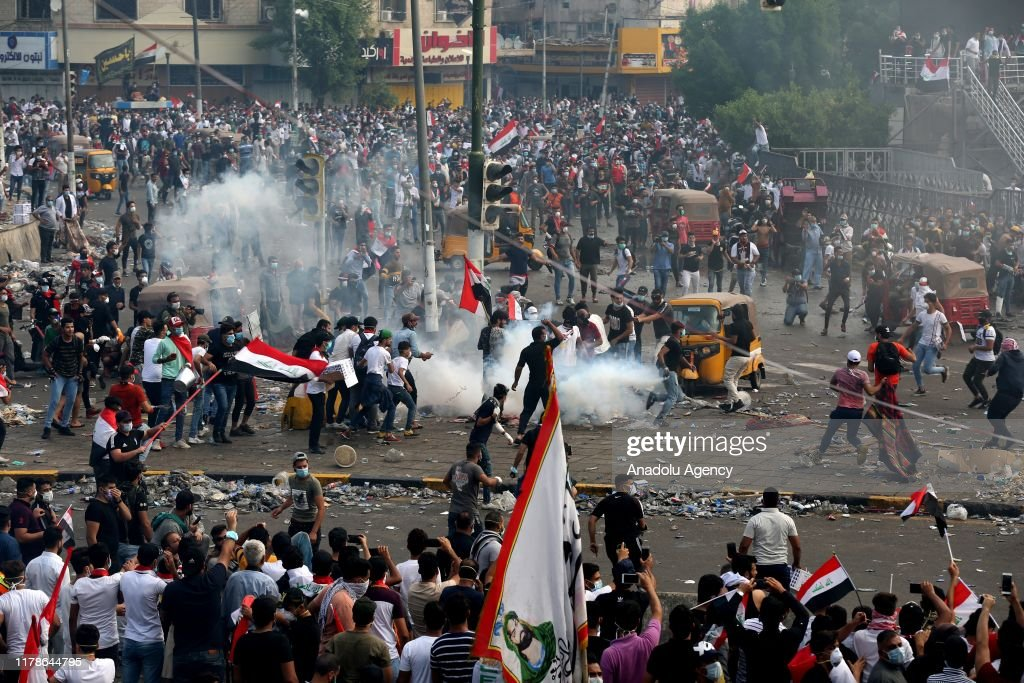 Anti government protests in Iraq : ニュース写真