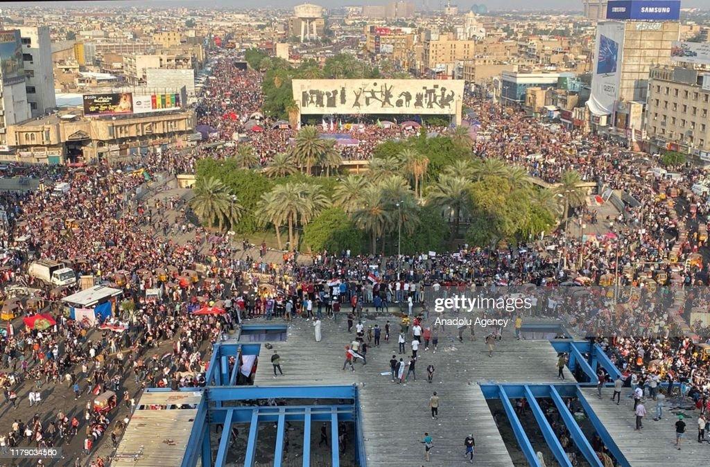 Anti government protests in Iraq : Nieuwsfoto's