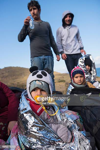 Iraqi refugee children on Lesbos, Greece