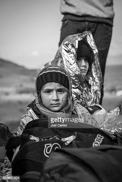 Iraqi refugees arriving on Lesbos, Greece