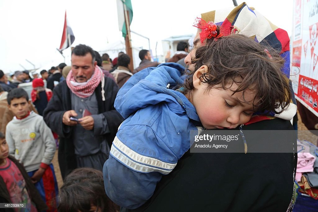 Iraqi refugees at Arbat refugee camp in Sulaymaniyah, Iraq : News Photo