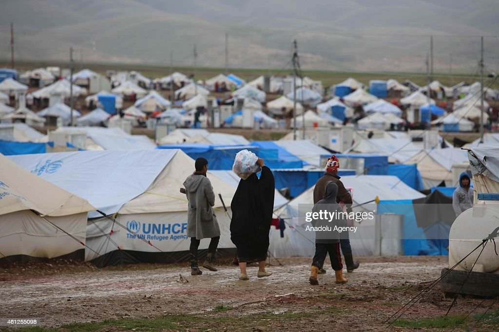 Iraqi refugees at Arbat refugee camp in Sulaymaniyah, Iraq : News Photo
