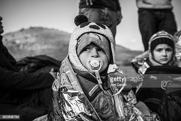 iraqi refugees in europe - lesbos, greece - human trafficking stock pictures, royalty-free photos & images