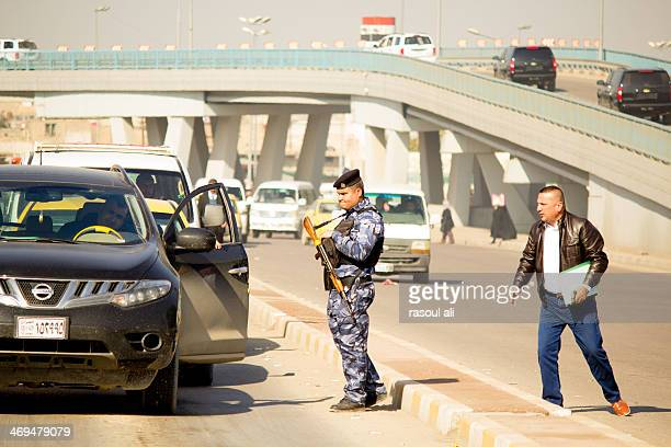 Iraqi security forces .. Iraqi police .. Checkpoints Iraq .. Baghdad Photography Rasoul Ali