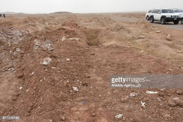 Iraqi security forces take security measures as Iraqi Government begin to investigate unidentified murders at the mass grave which is found in Kirkuk...