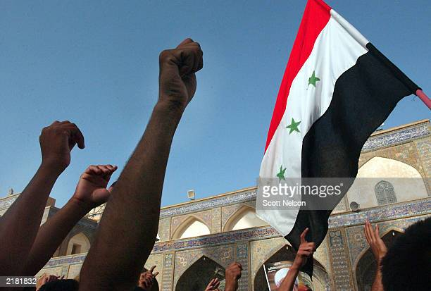 iraqi shia'as protest detentions - baghdad stock pictures, royalty-free photos & images