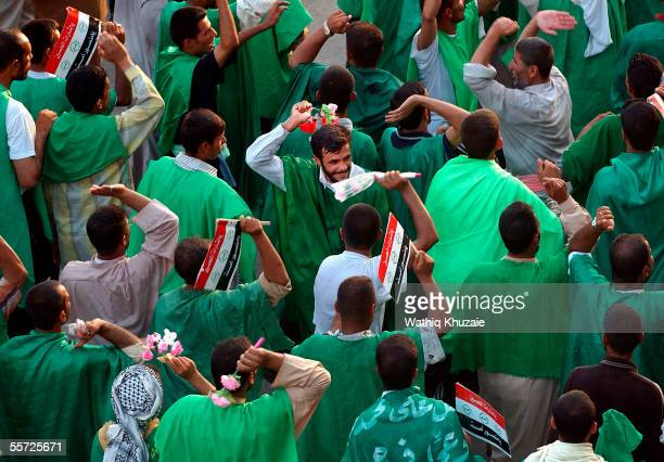 Iraqi Shiite pilgrims gather September 19 2005 in the city of Karbala 70 miles south of Baghdad Iraq Hundreds of thousands of Iraqi Shiites gathered...