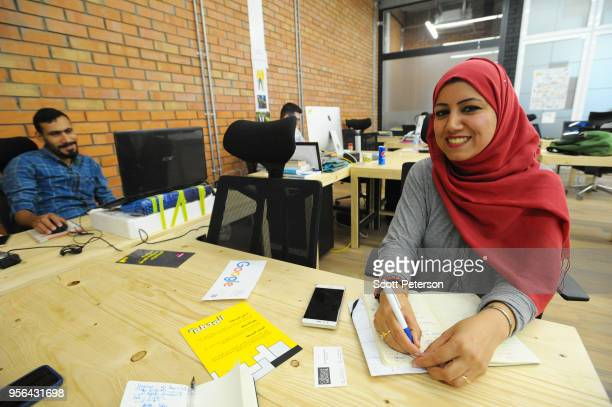 Iraqi social media strategist Dina Najim moved from the US to work at the first coworking space for startup entrepreneurs called The Station in...