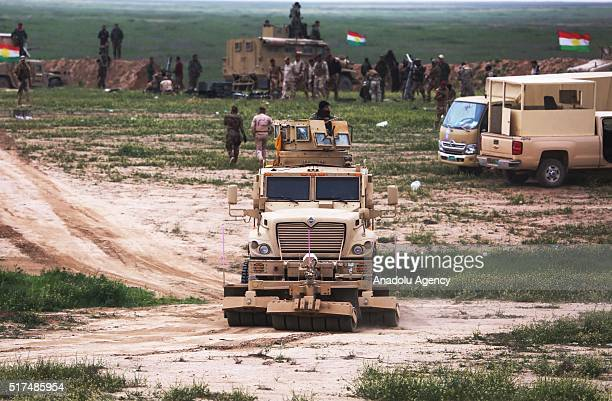 Iraqi soldiers attack Daesh positions as they begin first phase of Operation Conquest to retake Iraq's Mosul from the terrorist organization Daesh at...
