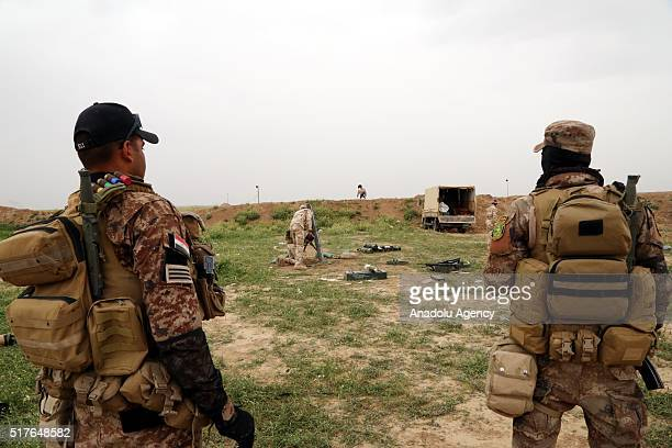 Iraqi soldiers attack Daesh positions on the third day of the Operation Conquest to retake Iraq's Mosul from the terrorist organization Daesh at...
