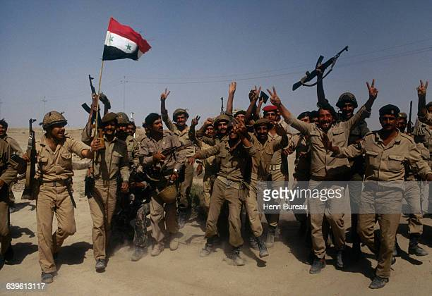 Iraqi soldiers during the war between Iran and Iraq