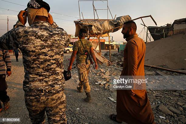 Iraqi soldiers now control the town of Qayyarah where bombing destroyed many shops in town October 26 2016 The residents of Qayyarah were liberated...