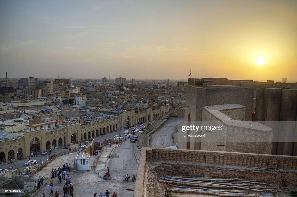 Iraqi sunset : Stock Photo