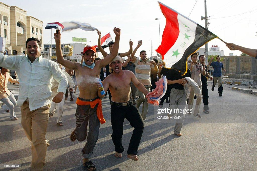 IRAQ-FBL-ASIA2007-CELEBRATIONS : News Photo