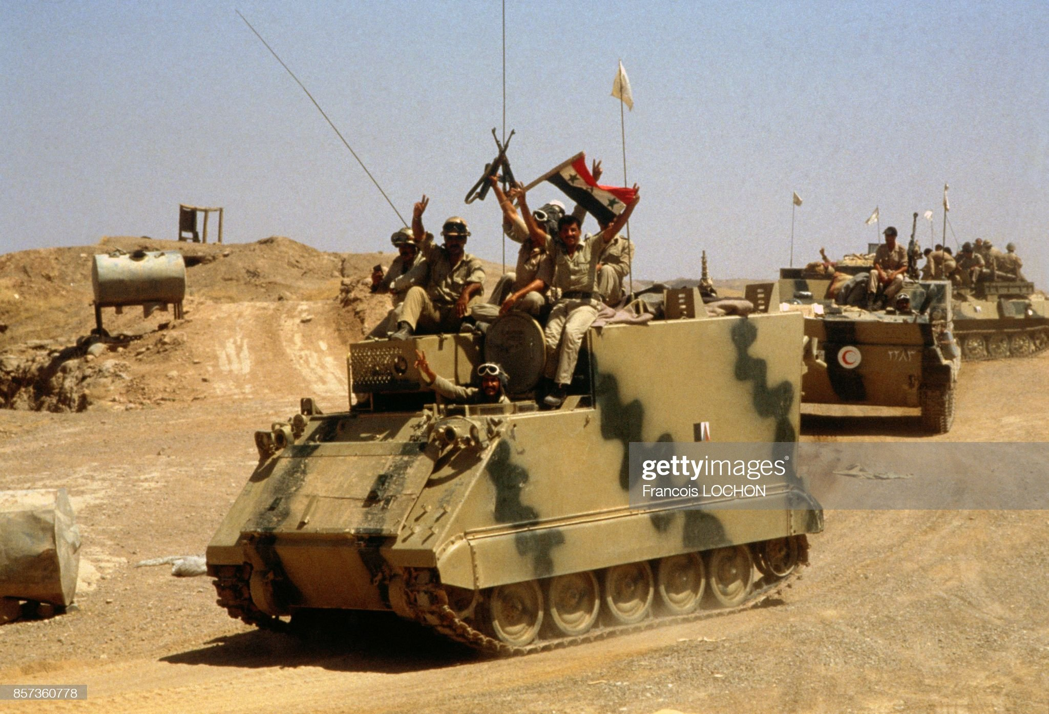 https://media.gettyimages.com/photos/iraqi-troops-seizing-tanks-from-the-iran-army-in-zubeidat-area-on-19-picture-id857360778?s=2048x2048