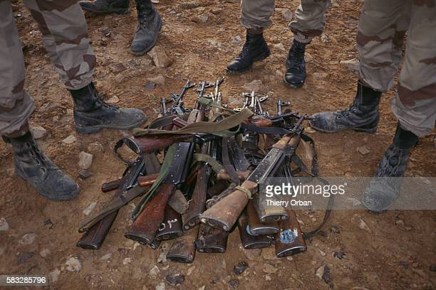 Iraqi weapons confiscated by the United States Army's 6th regiment on the 'Texas Highway'