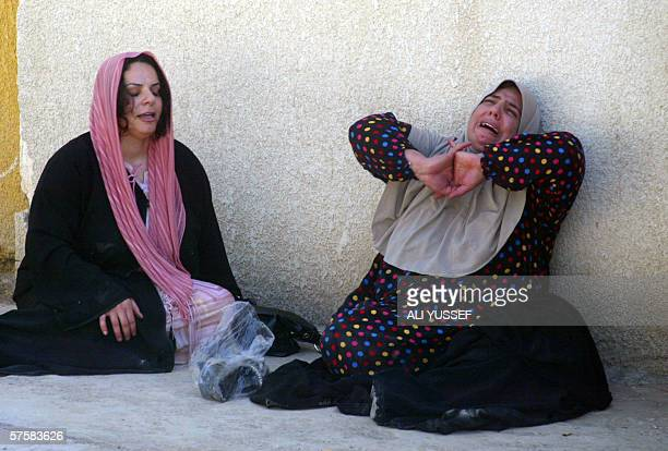 Iraqi women mourn during the funeral of school teacher Widad alShaml after she was shot dead in the restive city of Baquba 60 kms north of Baghdad 11...