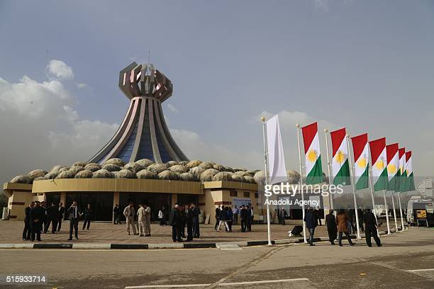 Iraqis commemorate the victims of Halabja massacre during the 28th anniversary of Halabja Massacre in Suleymaniyah Iraq on 16 March 2016