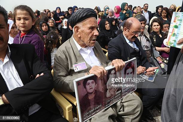 Iraqis commemorate the victims of Halabja massacre during the 28th anniversary of Halabja Massacre in Suleymaniyah, Iraq on 16 March 2016.
