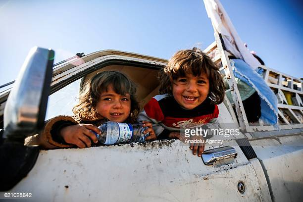 Iraqis living in villages of Mosul fled from Daesh terrorists arrive to Erbil in Iraq on November 4 2016 A much anticipated Mosul offensive to...