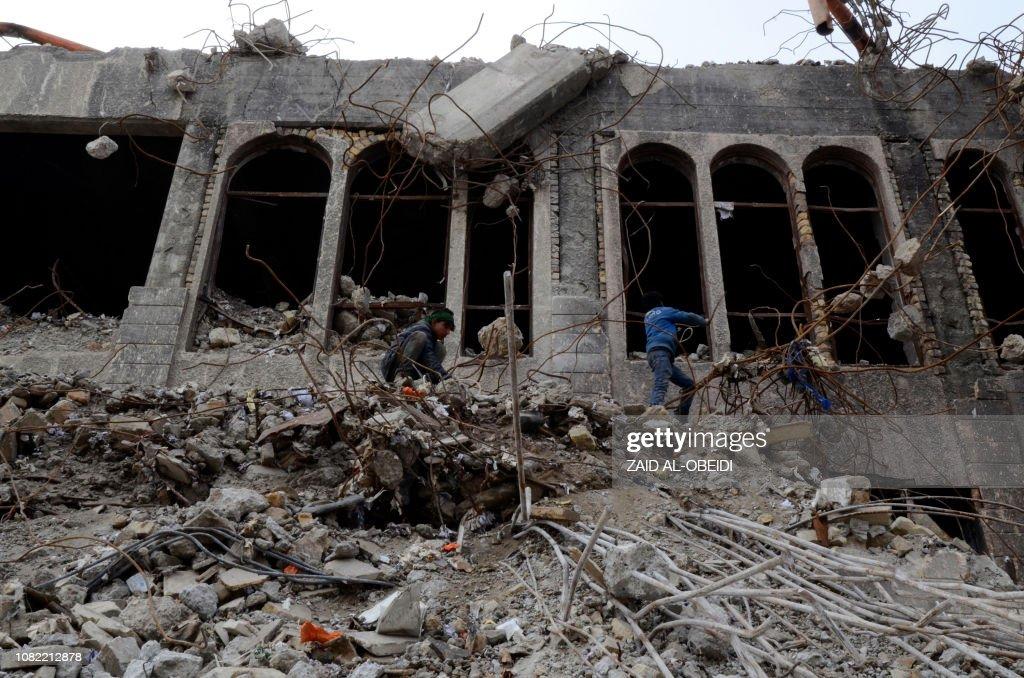 IRAQ-MOSUL-ARCHITECTURE-HERITAGE-JIHADISTS : News Photo